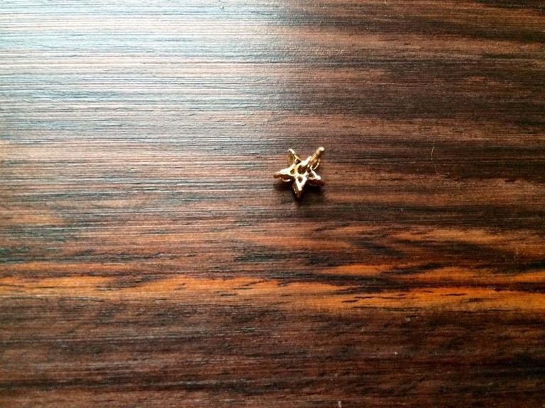 Ana de Costa Cognac Diamond Gold Flower Stud Earrings 7