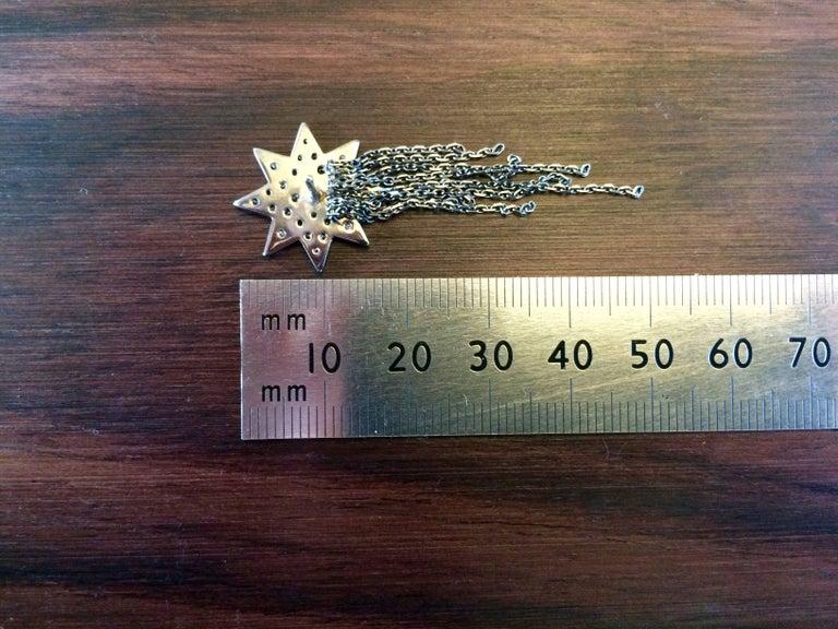 Ana de Costa Geschwärzte Weißgold Runder Weißer Diamant Stern Ohrringe 3