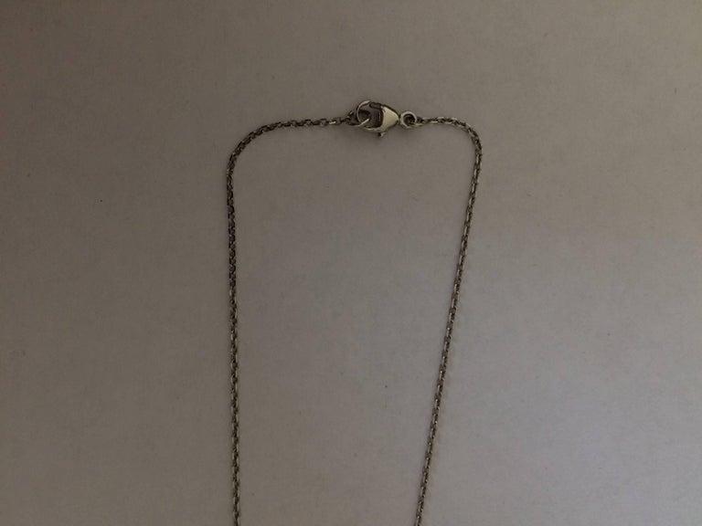 Women's Ana De Costa Platinum Yellow Gold White Diamond Tsavorite Lotus Petal Pendant For Sale
