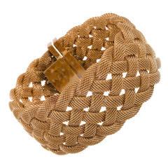 Tiffany & Co. Woven Gold Ribbon Bracelet