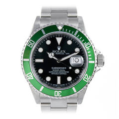 Rolex Stainless Steel Anniversary Green Submariner with Special Provenance