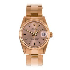 Rolex Yellow Gold Oyster Perpetual Datejust Wristwatch