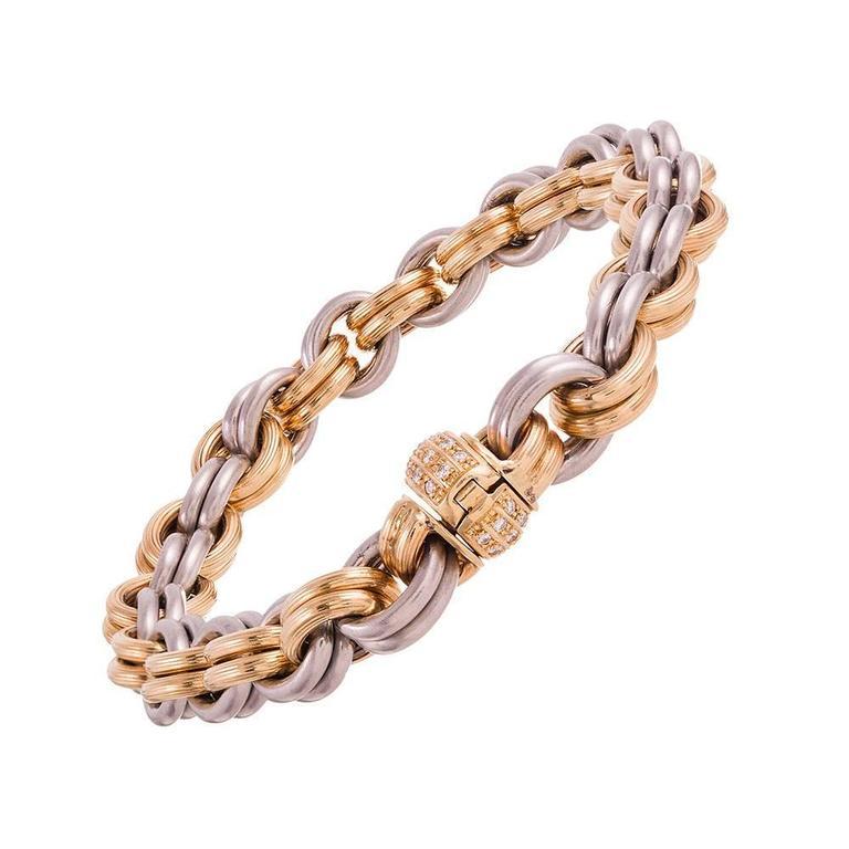 Gold Platinum Link Bracelet  2