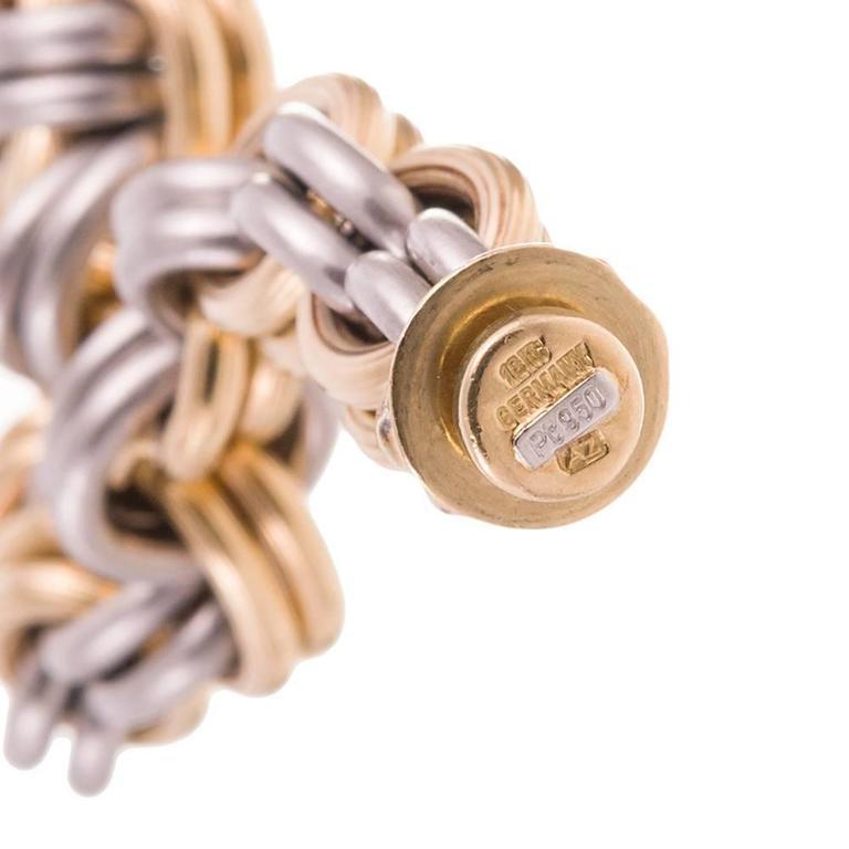 Gold Platinum Link Bracelet  5