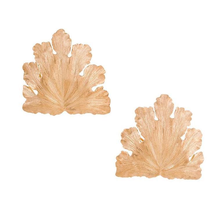 Buccellati Golden Leaf Earrings