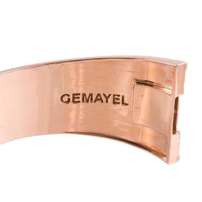 Gemayel 9.62 Carat Diamonds Two-Color Gold Abacus Bracelet For Sale 1