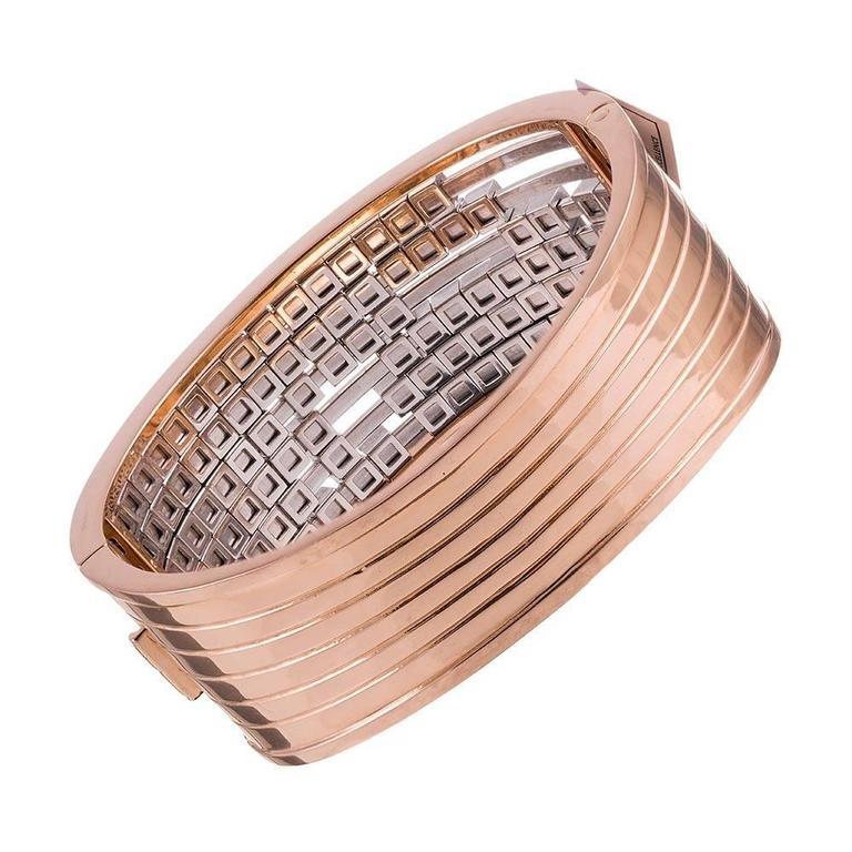 Women's Gemayel 9.62 Carat Diamonds Two-Color Gold Abacus Bracelet For Sale