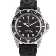"Rolex Stainless Steel Submariner ""Meters First"" Matte Dial Wristwatch Ref 5512"