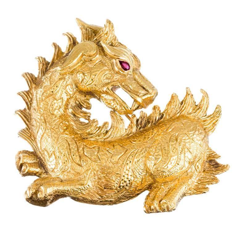 Colossal David Webb Dragon Brooch