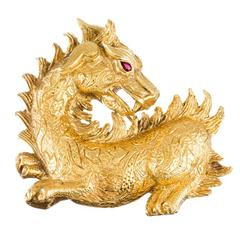 Colossal David Webb Dragon Brooch