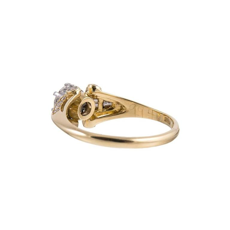 .61 Carat Center Old European Cut Diamond Gold Solitaire Ring In Excellent Condition In Carmel-by-the-Sea, CA