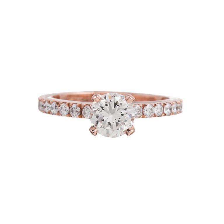 1.00 Carat Diamond Gold Solitaire Ring
