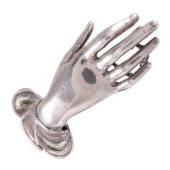 1848 Sterling Silver Hand Brooch