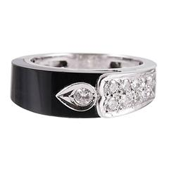 """1939 Onyx and Diamond Ring, Signed """"Cartier Inc."""""""