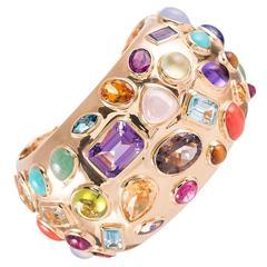 Seaman Schepps Multi Gemstone Cuff Bracelet