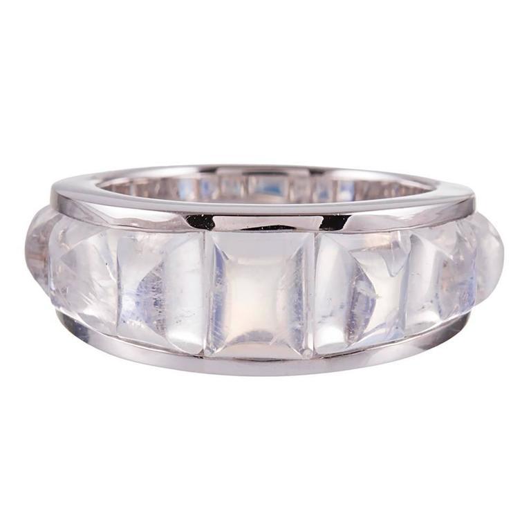 Seaman Schepps 9.45 Carat Moonstone White Gold Portofino Ring