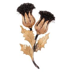 Buccellati Tricolor Gold Thistle Brooch