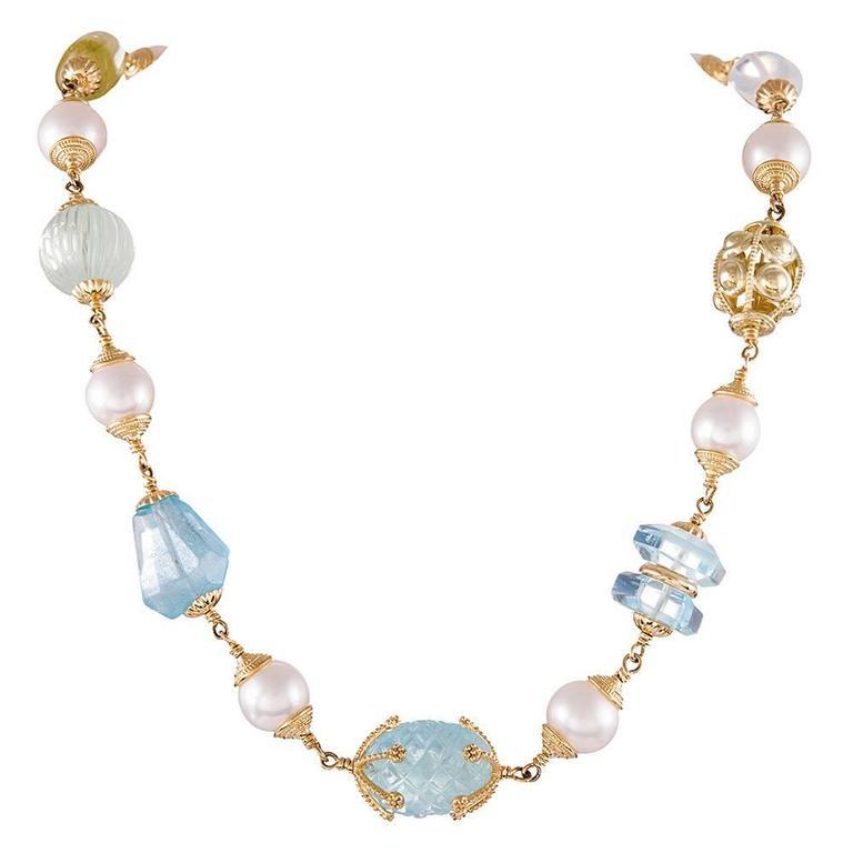 Seaman Schepps 141.34 Carat Baroque Gemstone Necklace