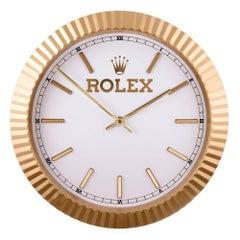 1980s Rolex yellow gold Bezel Wall Clock
