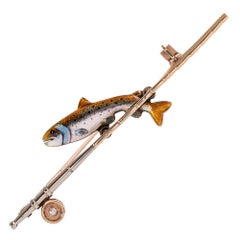 Turn-of-the-Century Enamel Fish Pin