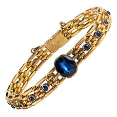 Antique Russian Sapphire Gold Bracelet