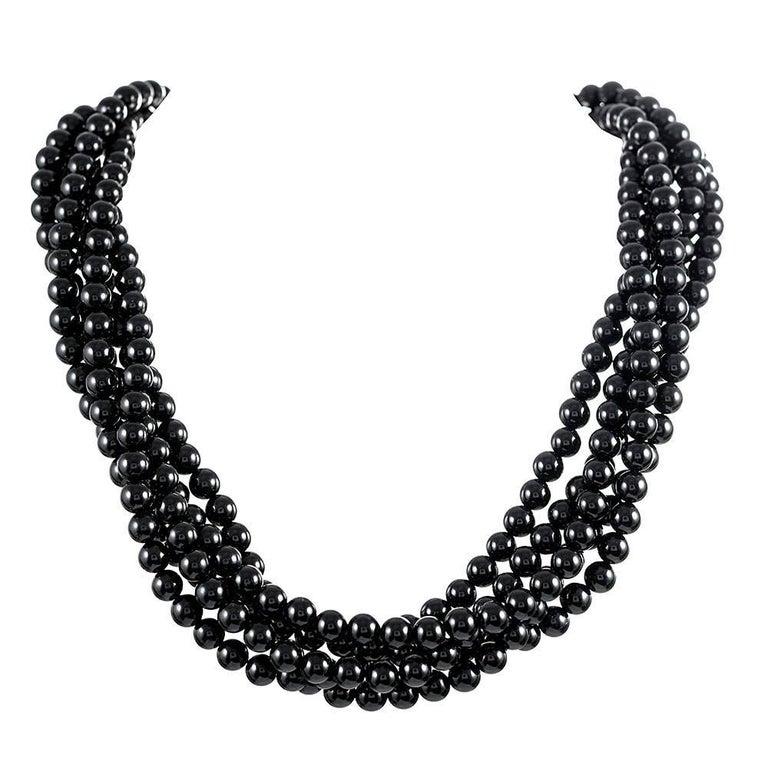 Tiffany & Co. Angela Cummings Five-Strand Onyx Enamel Necklace