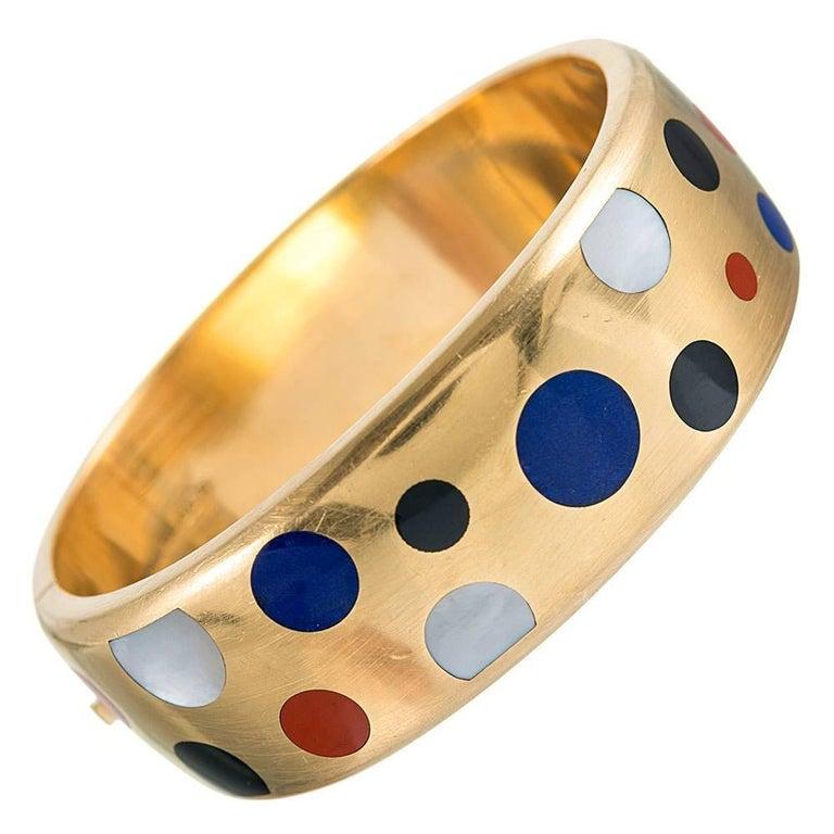 Tiffany & Co. Angela Cummings Inlaid Bangle Bracelet