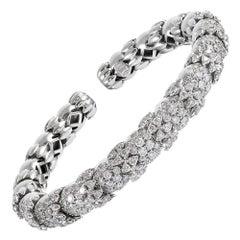 Flexible Diamond Bangle Bracelet