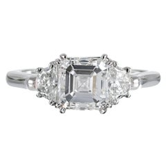 "2.01 Carat GIA F/VS1 ""Triple Excellent"" Asscher Diamond Ring"