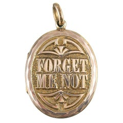 "Victorian ""Forget Me Not"" Locket"