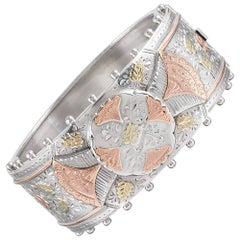 Victorian Silver Bangle Bracelet