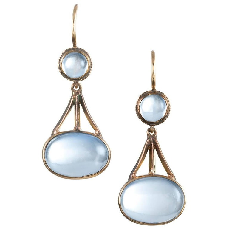 """Arts & Crafts"" Moonstone Earrings For Sale"