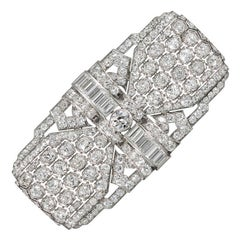 Art Deco Harry Winston Diamond Brooch, Made in 1939