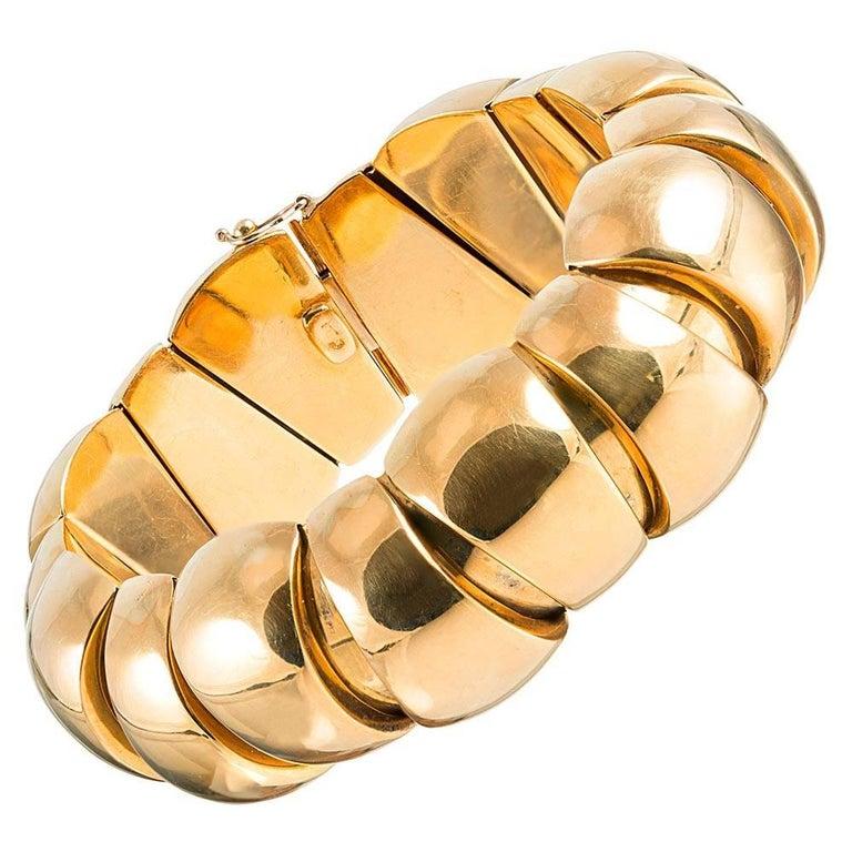 "Golden ""Caterpillar"" Bracelet"