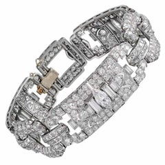 16.40 Carat Art Deco Diamond Bracelet