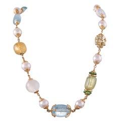 """197.80 Carat Baroque Gemstone Necklace, Signed """"Seaman Schepps"""""""