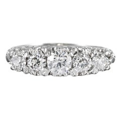 Victorian Style Five-Stone Old European Cut Diamond Ring