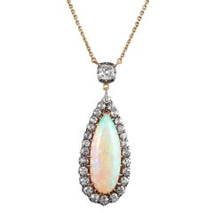 Victorian Opal and Diamond Pendant