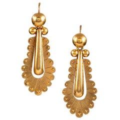 Scalloped Victorian Drop Earrings