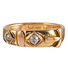 Victorian Diamond Buckle Ring