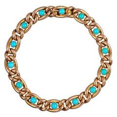 Victorian Turquoise Link Bracelet
