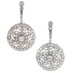 "Handmade Diamond ""Lace"" Earrings"