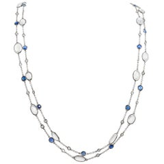 Diamond, Sapphire and Moonstone Chain