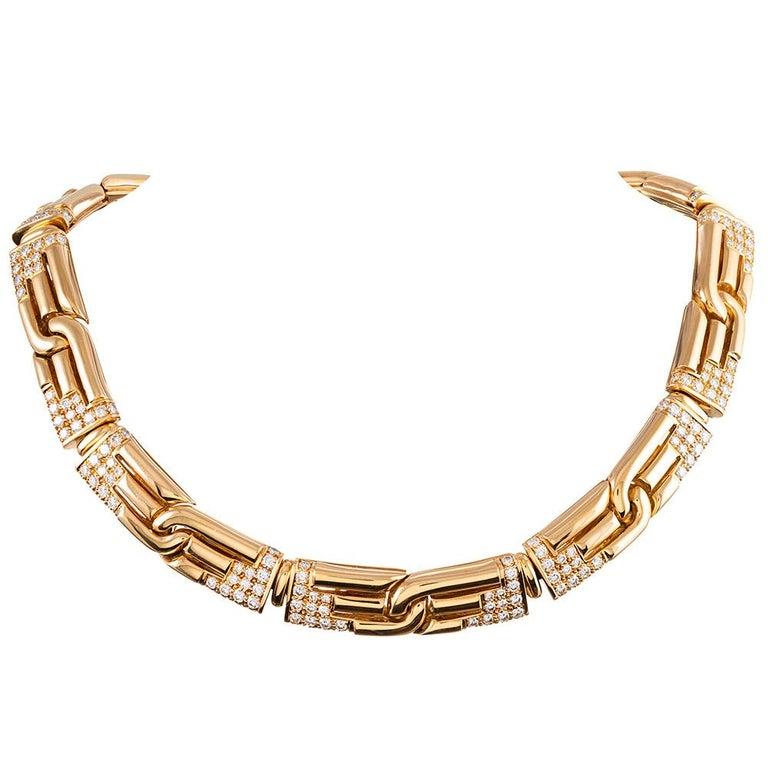 Bulgari Diamond Collar Necklace
