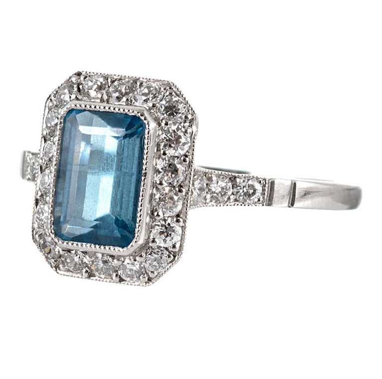 The design of this ring is inspired by the classic creations from the Art Deco period, yet the piece is of newer manufacture, offering the symbiotic balance of superior physical integrity and a classic style that will be beloved for generations.