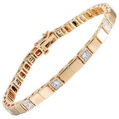 Contemporary Golden Diamond Cube Bracelet