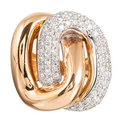 Italian Golden Diamond Knot Ring