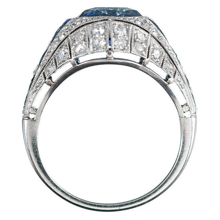 Women's 3.22 Carat No Heat Ceylon Sapphire and Diamond Ring For Sale