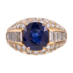 Bulgari 5.07 Carat Sapphire Diamond Gold Ring