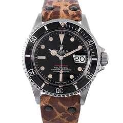 Rolex Stainless Steel Red Submariner Wristwatch Ref 1680 circa 1970s